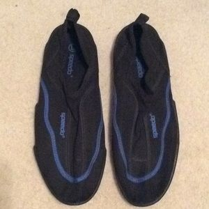 Men's black/blue speedo Surf Walker water shoes